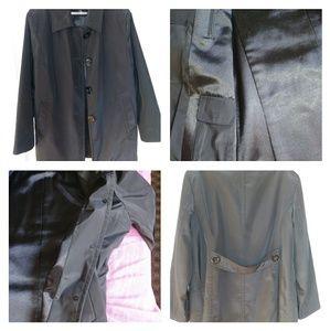☔Jones New York Black Rain Trench Coat 🌂🌂